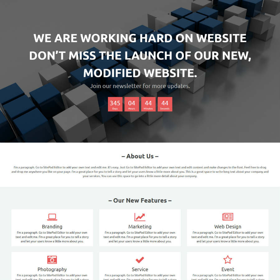 Website Builder Landing Page