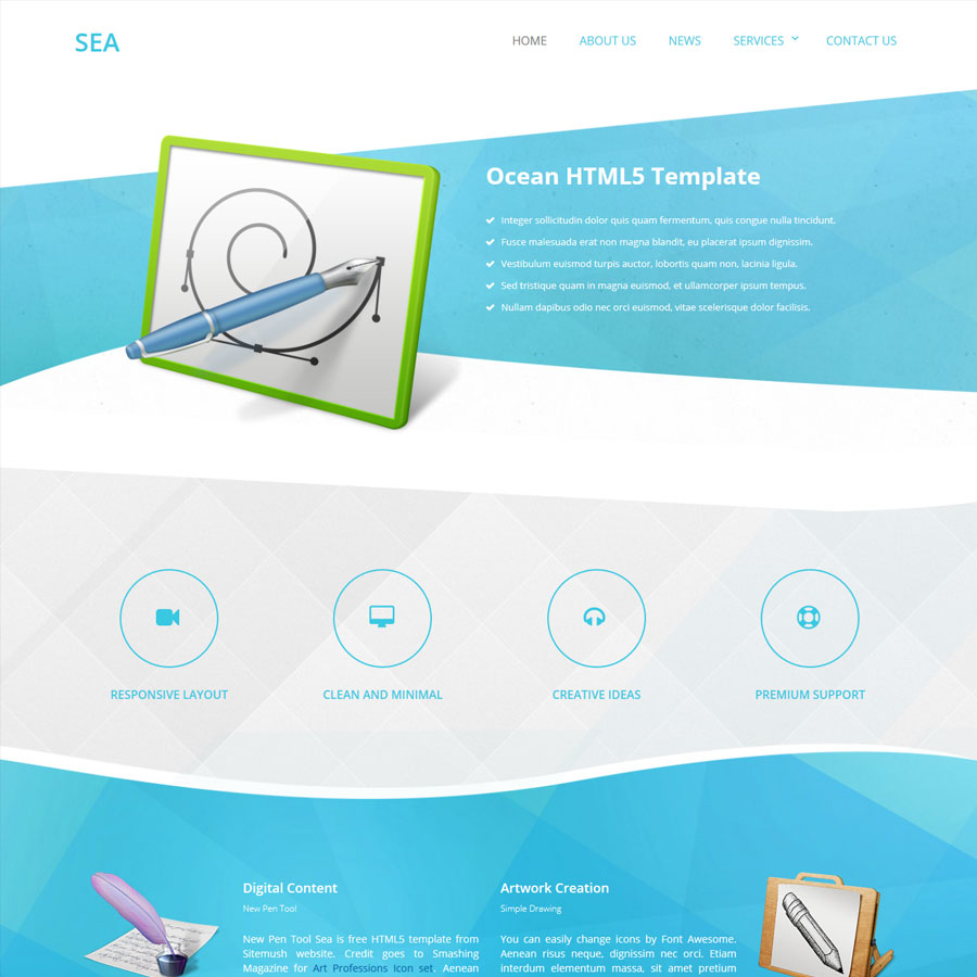 Sea Website Template